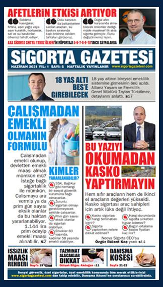 Sigorta Gazetesi 5. Sayısı